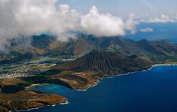 Aerial view of O`ahu